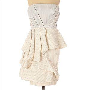 Alice + Olivia Strapless Tiered Ruffle Dress